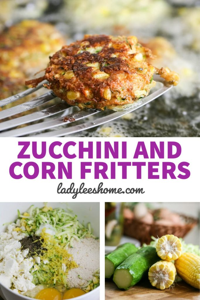 These delicious zucchini and corn fritters are a great easy meal. Serve them with a salad or serve them as a side dish. They are crispy and full of summer flavor!