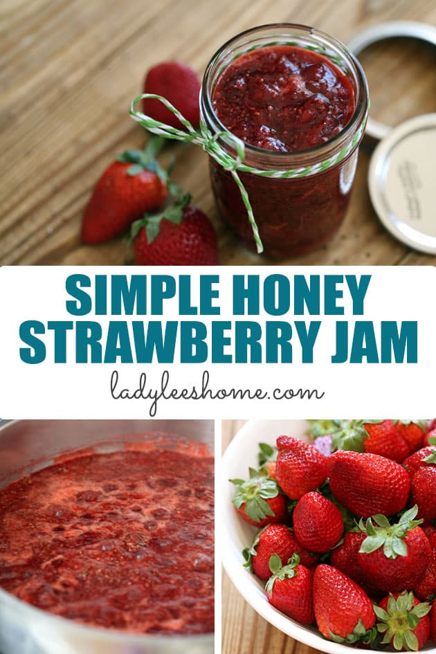 This honey strawberry jam is simple to make! We'll use just a little bit of honey to sweeten it and chia seeds to help it gel, no store-bought pectin. It's delicious and a great substitute for traditional jam.