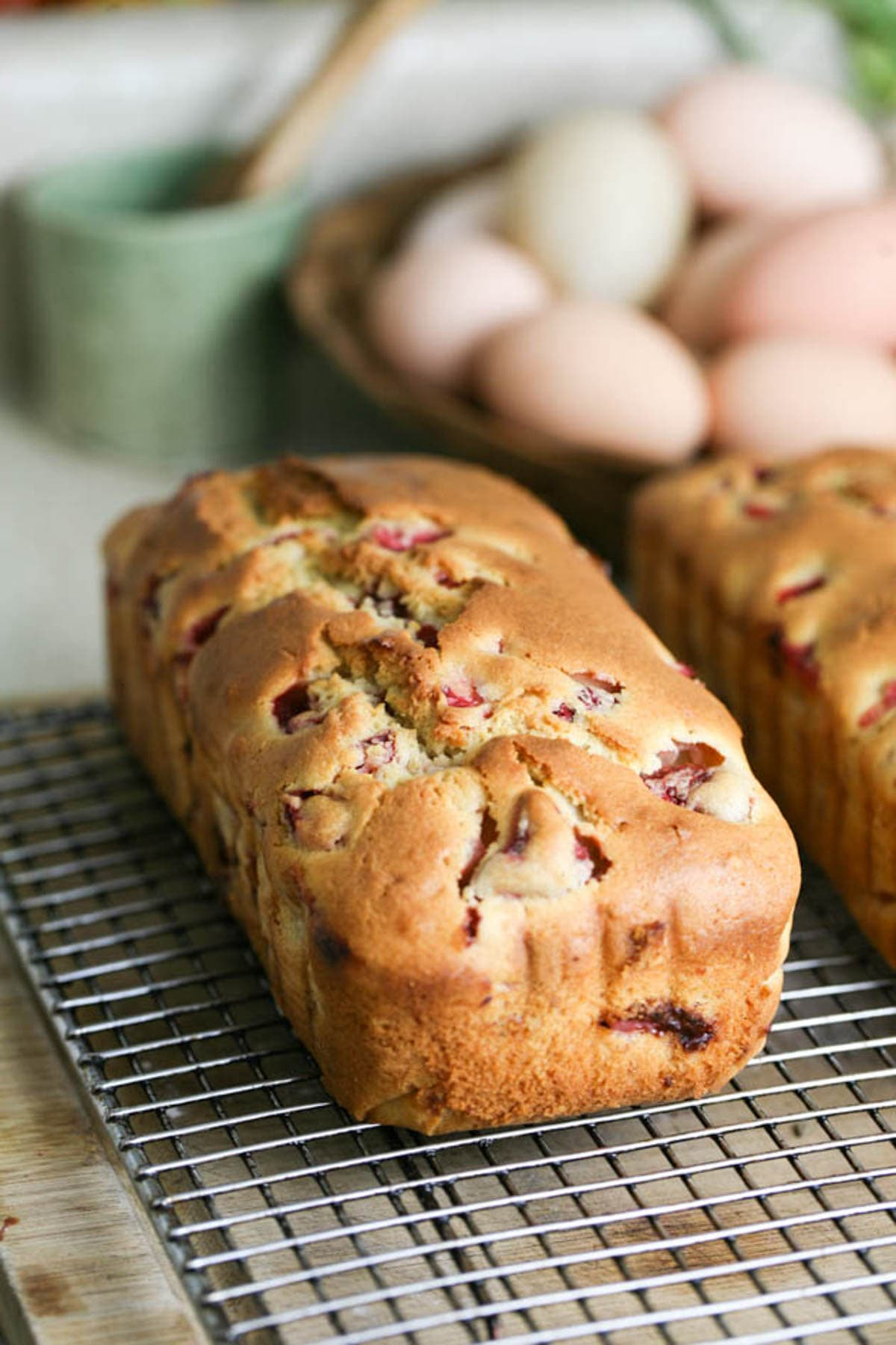 Easy strawberry bread after baking.