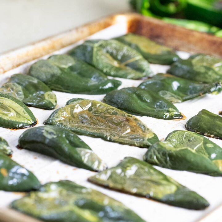 How to Roast Poblano Peppers in the Oven